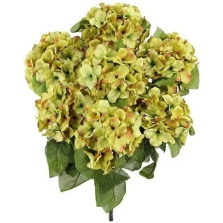 Admired by Nature GPB730-SAND Artificial Full Blooming Stain Hydrangea Sand
