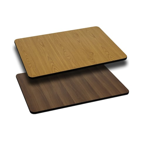 "30"" x 42"" Rectangular Table Top with Natural or Walnut Reversible Laminate Top"