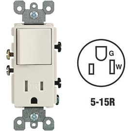 Leviton Alm 15A Tamp Swtc/Outlet