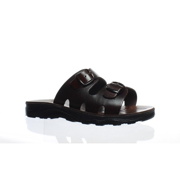 6feb18a7d282 Shop Jerusalem Sandals Mens 108D Brown Slides EUR 44 - On Sale ...