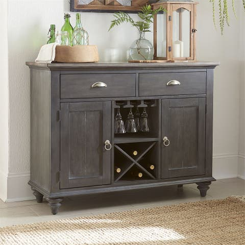 Ocean Isle Slate with Weathered Pine 2-drawer Buffet