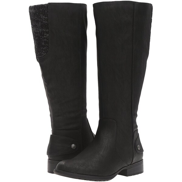 LifeStride Womens Xandy Closed Toe Knee High Fashion Boots Size 9.0 Black
