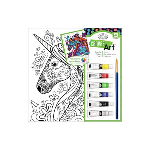 Rtn-251 royal canvas art paint set unicorn