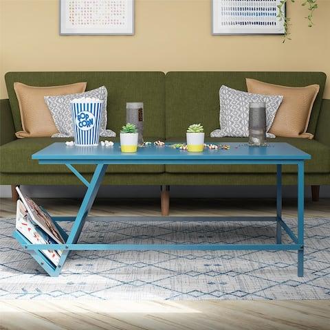 Novogratz Regal Blue Coffee Table