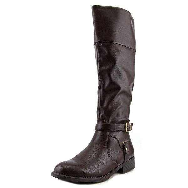 Nine West Leowm Round Toe Synthetic Knee High Boot