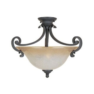 Designers Fountain 96111 Two Light Down Lighting Semi Flush Ceiling Fixture from the Barcelona Collection