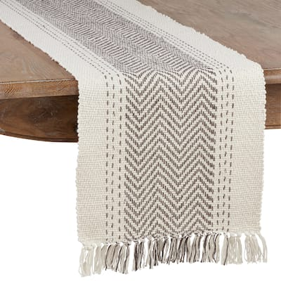 Table Runner With Kantha Stitch Design