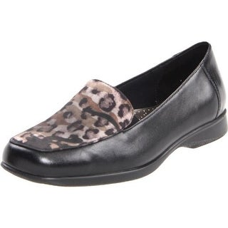 Trotters Womens Jenn Leather Animal Print Fashion Loafers