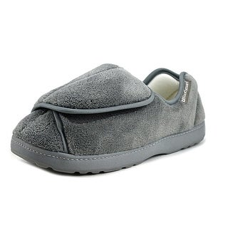 FootSmart Wrap-Around Slipper Round Toe Canvas Slipper