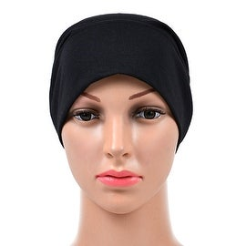 Muslim Scarf Kerchief Hat Solid Color black