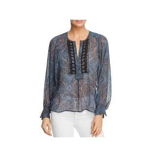 bc731532244 Ella Moss Womens Amberline Blouse Ruffled Business Casual. Quick View