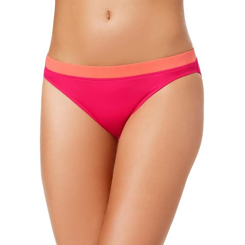 Lauren Ralph Lauren Womens Beach Club Banded-Waist Bikini Bottom 14 Pink