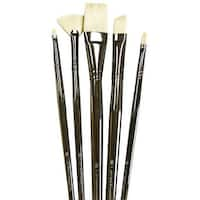 "Royal Brush - Zen Brush Set - Series 73 All Media Short Handle Set - Angular 1/8"", 1"", Shader 16, Script Liner 10/0, Fan 2/0"