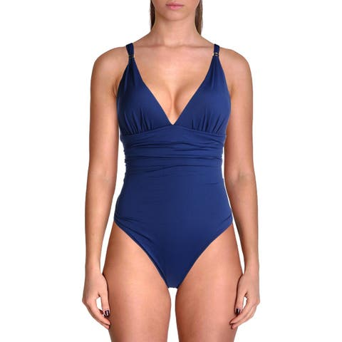 Lauren Ralph Lauren Womens Slim Fitting Corset One-Piece Swimsuit