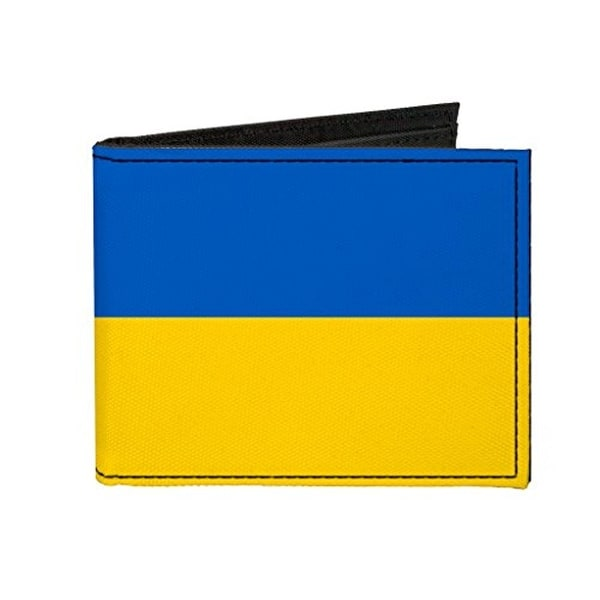 Buckle-Down Canvas Bi-fold Wallet - Ukraine Flag Accessory