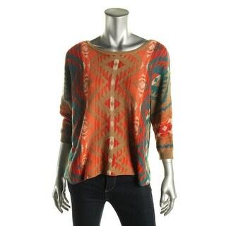 Denim & Supply Ralph Lauren Womens Southwester Dolman Sleeves Pullover Sweater - M