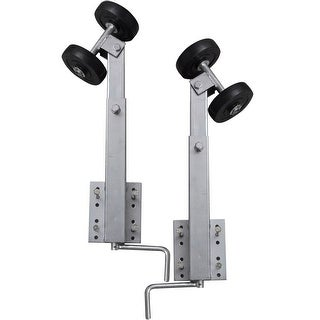 vidaXL Boat Trailer Double Roller Bow Support Set of 2 2' - 3'