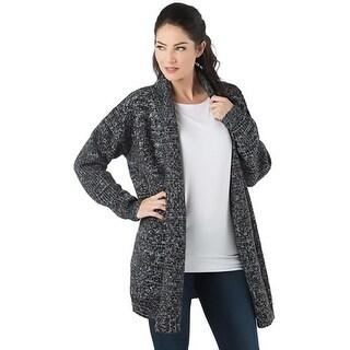 En Creme Womens Cardigan Sweater Shawl Collar Open Front