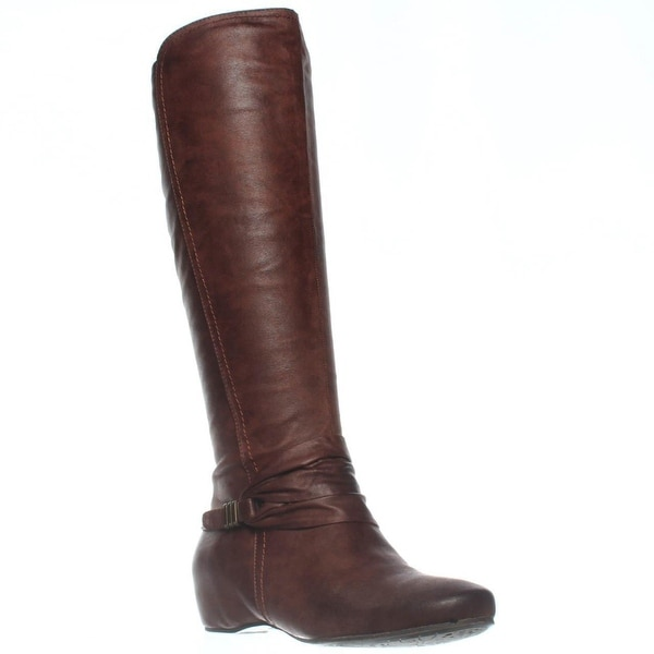 BareTraps Sapphire Knee-High Hidden Wedge Boots, Brush Brown - 6.5 us