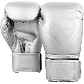 Venum Contender Hook and Loop Training Boxing Gloves - Silver/Silver
