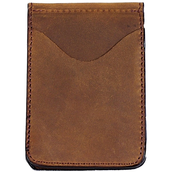 Georgia Wallet Mens Casual Leather Money Clip Leather Brown - One size