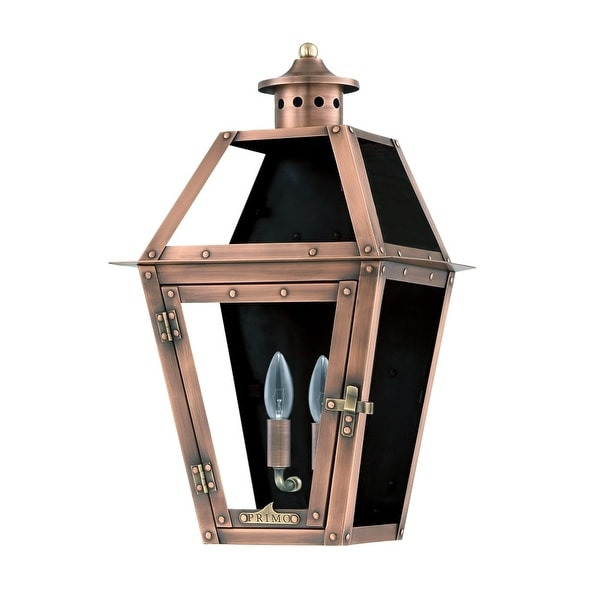 Primo Lanterns OL-15FE Orleans 16 1-Light Outdoor Wall-Mounted Lantern in Electric Configuration - Copper - n/a