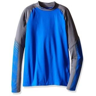 Boys Under Armour 1280740 ColdGear Armour Up Mock Ultra Blue Long Sleeve YXL