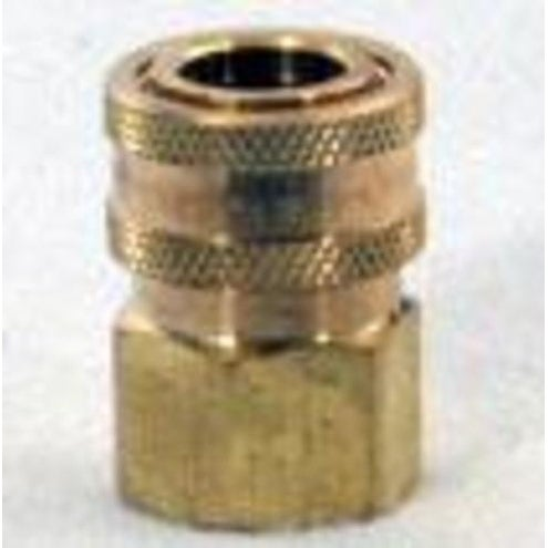 MI-T-M AW-0017-0004 Pressure Washer Quick Connect Socket, Brass