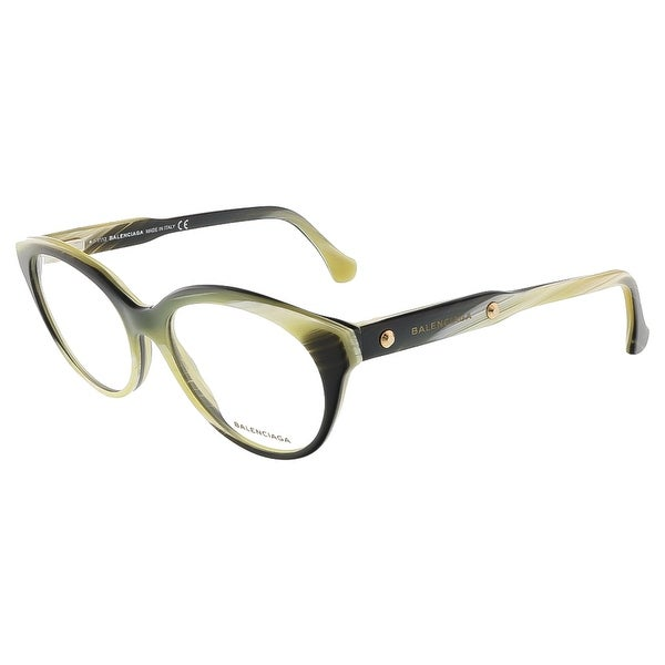 Balenciaga BA5001/V 064 Yellow Black Horn Round prescription-eyewear-frames - 51-16-140