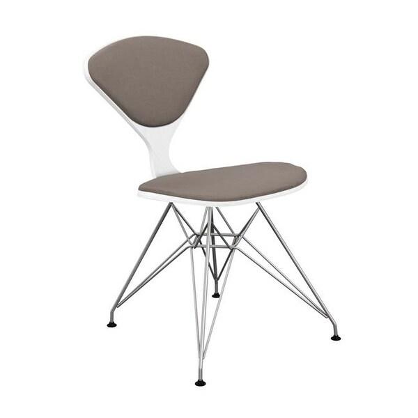 Etonnant NyeKoncept White U0026amp; Chrome Emmet Eiffel Chair, Moody Warm Gray