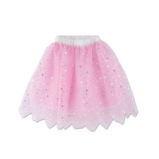 Club Pack of 6 Girl's Pink with Sparkly Sequin Princess Tulle TuTu Skirts
