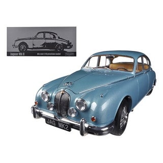 1962 Jaguar Mark 2 3.8 Opalescent Blue Limited to 3000pc 1/18 Diecast Car Model by Paragon