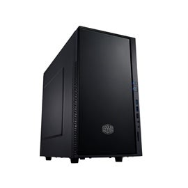 CoolerMaster Case SIL-352M-KKN1 SILENCIO 352 Mini Tower No Power Supply 1/1/(2) Bay USB 3.0 HD Audio Black