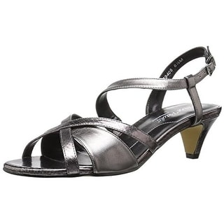 Rose Petals by Walking Cradles Womens Lafayette Dress Sandals Faux Leather - 7.5 extra wide (e+, ww)