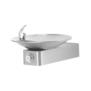 Haws 1001 Barrier-free, stainless steel drinking fountain with a sculpted bowl. - Satin Stainless - N/A