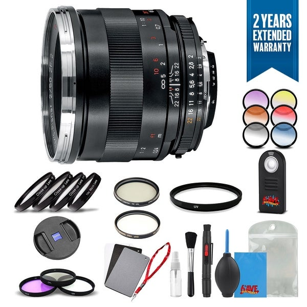 Zeiss Makro-Planar T* 50mm f/2 for Nikon F - 1771-845 with Cleaning Accessory Kit and 2 Year Extended Warranty