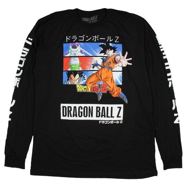 9c56aec5 Dragon Ball Z Shirt Men's Goku Vegeta Piccolo Frieza Long Sleeve Top. Image  Gallery