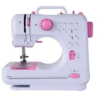 Costway Sewing Machine Free-Arm Crafting Mending Machine with 12 Built-In Stitched White
