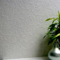 Brewster 437-RD4012 Heaton Paintable Textured Vinyl Wallpaper - N/A