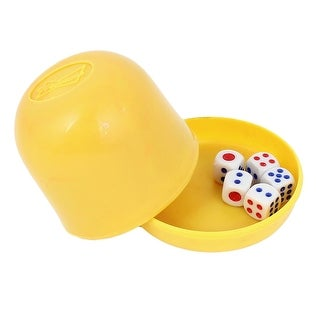 KTV Special Straight Game Party Pub Decider 5 Craps Shaker Dice Cup Yellow