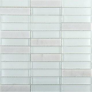 "Emser Tile W89ILLU1212MOB Illumina - 11-3/4"" x 11-3/4"" Straight Joint Mosaic Mul - N/A"