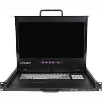 """Startech 1U 17"""" Hd Dual Rail Rackmount Lcd Console W/ Fingerprint Reader"""