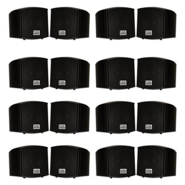 Acoustic Audio AA321B Indoor Mount Black Speakers 3200W 8 Pair Pack AA321B-8Pr