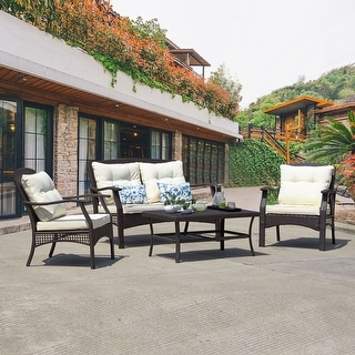 Link to Outdoor Furniture Beige 6-Piece Patio Conversation Set Similar Items in Outdoor Sofas, Chairs & Sectionals