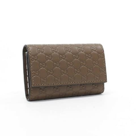 Gucci Mens Brown Microguccissima Soft Leather Key Case 150402 - S
