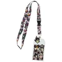 Disney Villains Lanyard with ID Holder and Rubber Charm - One Size Fits most