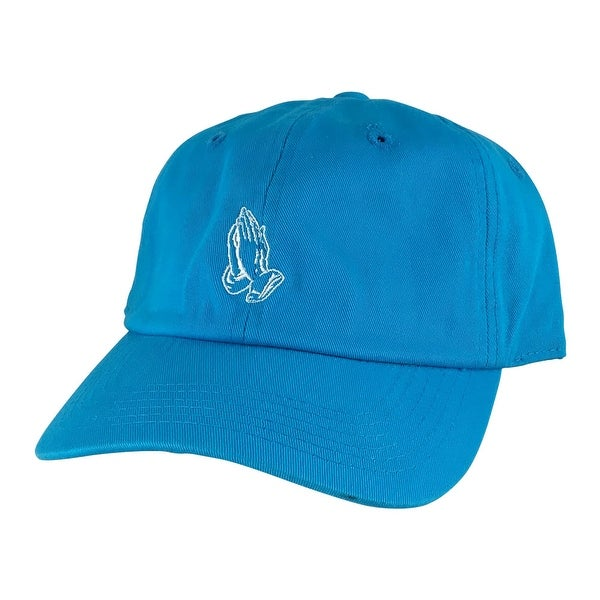 info for ef13c e8557 Shop Pray Wish Hand Cotton Unstructured Adjustable Strapback Hat Dad Cap  Aqua White - TEAL - Free Shipping On Orders Over  45 - Overstock - 13432872