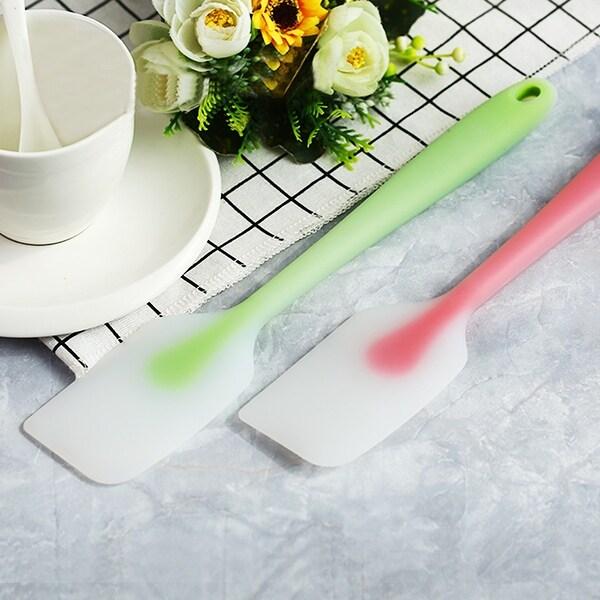 VECELO Silicone Baking Cake Cream Butter Spatula Scraper (Green)