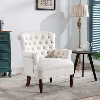 Link to Corvus Sidmouth Tufted Fabric Oversized Club Chair Similar Items in Living Room Chairs