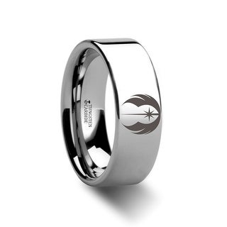 Jedi Order Symbol Star Wars Polished Tungsten Engraved Ring Jewelery by Thorsten Rings - 8mm